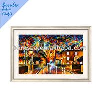night city scenery digital photo painting prints framed art