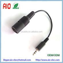 3.5mm stereo mini audio male plug to 5 PIN DIN MIDI female jack cable