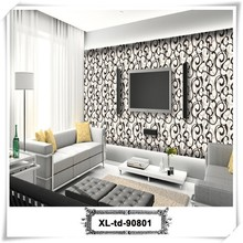 Promotion simple mould-proof wallpaper samples for tv background wall