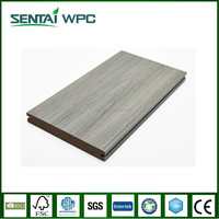 Co-extrusion wpc wood look solid interlocking floor