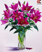 2012 hot selling 100% Handmade modern pictures of flower oil painting