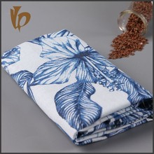 2015 new design blue and white porcelain style linen cotton fabric/ linen fabric/ cotton fabric for dresses wholesale cheap
