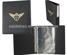 A4 leather ring document folder,2015 New a4 documents faux leather executive folder with Notebook,Customized A4 leather document