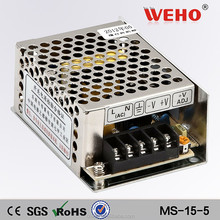 High frequency 15w single output mini power supply 5v dc led SMPS