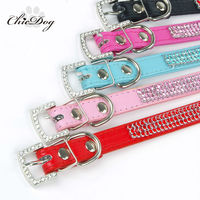2015 good quality popular bling bling Leather dog collars and leashes