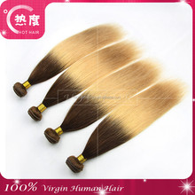 DHL Fast shipping virgin human hair color pictures blonde Curl holding after Wash brazilian ombre blonde silk straighthair