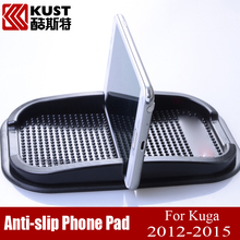 High Quality Latex Anti Slip Phone Holder For Kug 3 Anti-slip Phone Pad For Kug 2012 To 2015 New Phone Mat For Escape For Ford