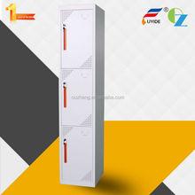 popular 3 door metal bench/foot/cube powder coating locker room made in KD structure