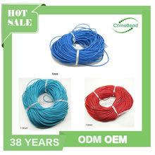 Multicolor laço de couro 1 mm Cord tópico e fios cordão de couro rodada