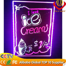 new LED innovation 40*60cm acrylic panel led writing board for shops advertising hot selling on china market