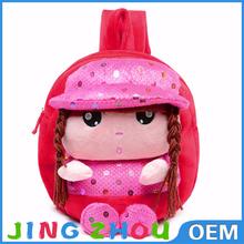 stuffed bag,plush toy school bag,plush backpack for girl
