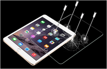 2015 HOT!newest tablet 9H anti fingerprint clear gold 0.26mm tempered glass screen protector for ipad mini 4