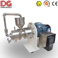 DEGOLD 0.3L laboratory agitator mold steel grinding cylinder&disc inverter horizontal sand/bead mill machine for SC