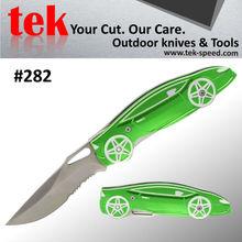 OEM folding rescue knife with aluminum handle