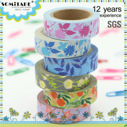 Free Samples Box Washi Tape/Masking Tape for Scrapbooking Party Decoration SOMITAPE
