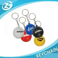 Promotion Ball Shaped Soft PVC Keychain