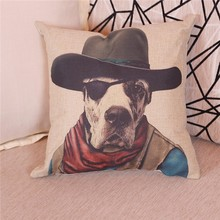 Pet Dog Pillow Cover Sofa Decorative Cushion For Leaning On Chair Seat Cushion
