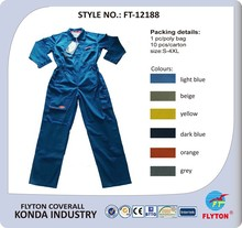 High quality safety 100% cotton coverall workwear