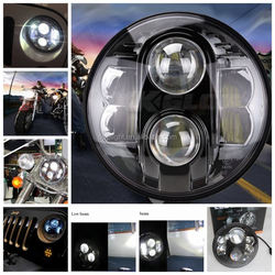 "Round 30w 48w Hi Low beam car 7"" headlight motorcycle led,7 inch headlight with led for truck with super bright"