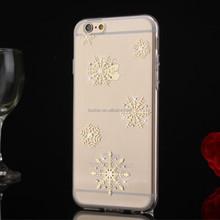 2015 newest TPU case with diamond crystal for iphone 6