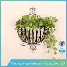 Home decor flower basket metal wall art wholesale