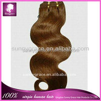 Unprocess Stock body wave hair weaves virgin Brazilian human hair from Sunny Grace Hair Products Factory