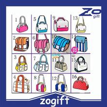 ZOGIFT wholesale 22 style 3d cartoon bag ,cheap 2d cartoon women shoulder bag