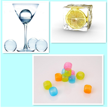Portable Food coloring bpa free and reusable ice cube for refrigerator