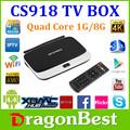 Cs918 Rockchip 3188 Quad Core intelligent Android Tv Box Hd récepteur