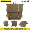 1020 Retro School Casual Army Green Canvas Backpack Bag for Men