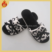 Cheap open toe disposable hotel bedroom cotton slipper