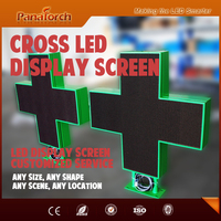PanaTorch New Arrival P10RG Outdoor LED Cross Display Cabinet IP65 waterproof high resolution With customer size