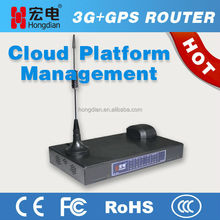 GPS 3G WCDMA router supporting dual SIM card and 5 LAN
