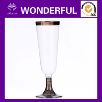 disposable plastic wine goblet