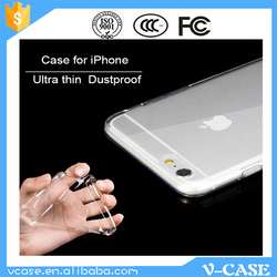 VCASE High Clear Transparent 3d tpu phone case silicone phone case for iPhone 6