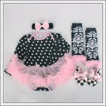 R&H black Different pattern cotton breathable OEM babies dresses