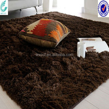 Microfiber polyester shaggy washable synthetic fur rug