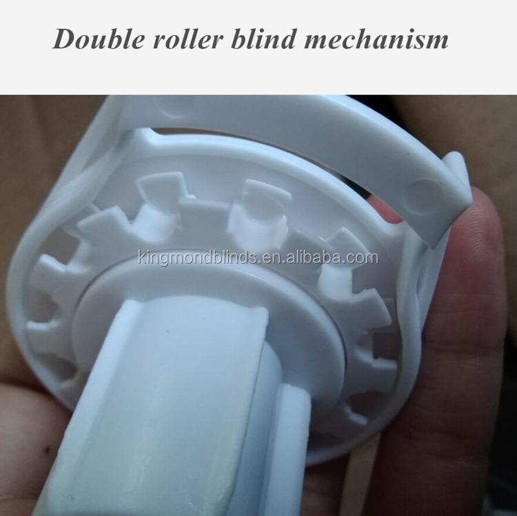 Cortinas de rolo duplo suporte e mecanismo de embreagem com bom feedback