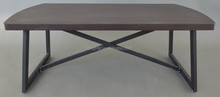 Elegant design wooden top with metal legs coffee table QJ-208