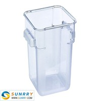 Top quality disposable plastic safe oven 18QT food storage container with NSF