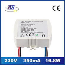 16.8W 350mA 48V Constant Current waterproof LED Driver with Triac Dimmer, UL approved led driver