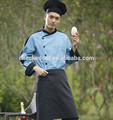 uniforme del cocinero con mangas largas