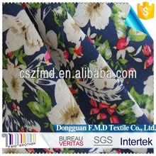 100% Flax Fabric Printed With Flower