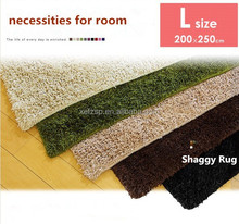 polyester shaggy anti slip carpet industry