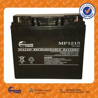 made in China small 12 volt battery vrla sealed lead acid storage agm solar gel deep cycle 48v 36v 24v 12v 15ah storage battery