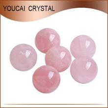 Calidad superior de cristal de cuarzo rosa bola natural Feng Shui esferas