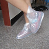 Waterproof PVC transparent rain shoe covers rain boots