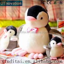Birthday present many sizes Plush pillow penguin repeat talking toy