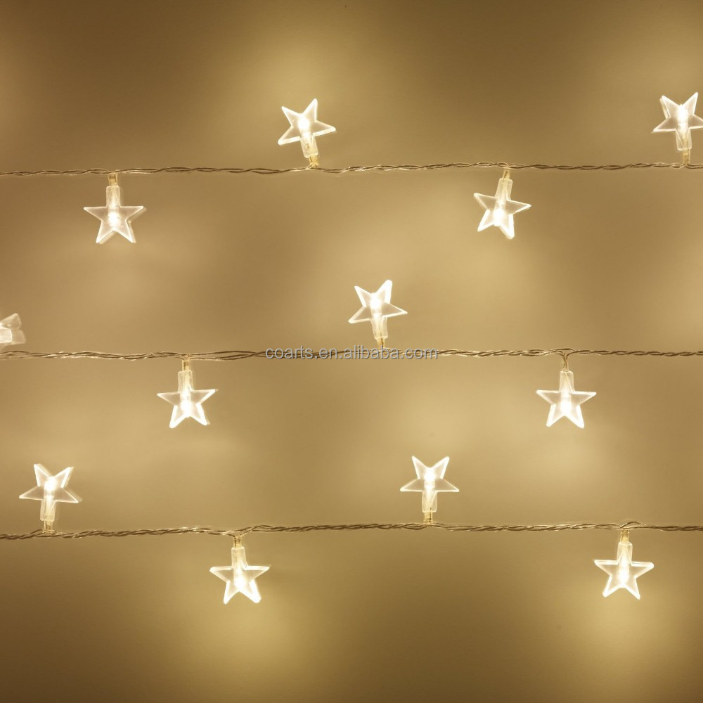 Electric Star String Lights : Christmas falling Star lighting string Fairy Lights LED christmas light