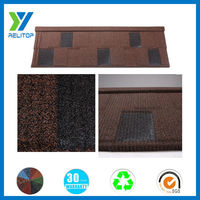 Stone coated coffee brown good quality building roofing tiles